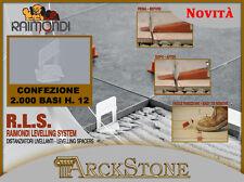 ARCKSTONE 2000 Basi Altezza Mattonella 3 - 12 mm Fuga 1,5 mm Parete Raimondi RLS