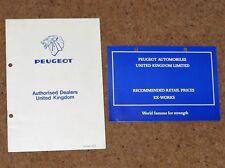 1977 PEUGEOT PRICE LIST & UK DEALER GUIDE - 104 304 504 604 404 Pickup