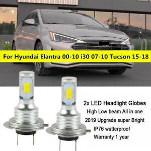 H7 LED Headlight Globe 100W for Hyundai Elantra 2000-10 i30 2007-10 Tucson 15-18