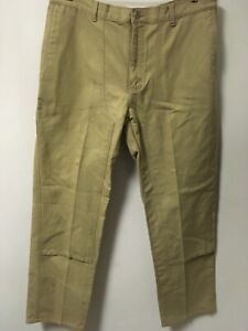 Men's Patagonia 100% Cotton Beige Pants Hiking Casual Size 36x34