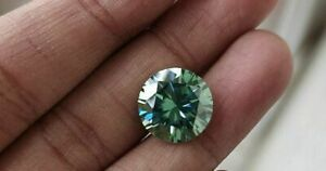 0.25Ct    Green Color Round cut Real Moissanite Loose For Jewelry/Rings
