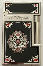 S.T. Dupont L.E. Travel In Time Ligne 2 Lighter, Platinum, 16981 (016981) NIB
