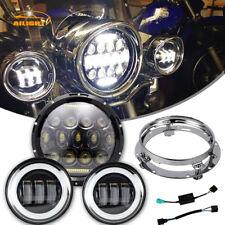 "Yamaha Royal Star Venture XVZ1300 7"" 75W LED Daymaker Headlight Passing Lights"