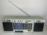 Vintage SONY CFS-3000 Transound Stereo FM/AM Cassette Recorder Boombox - Works!