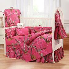 REALTREE AP FUCHSIA HOT PINK CAMO BABY CRIB BEDDING - BUMPER PAD HEADBOARD SHEET