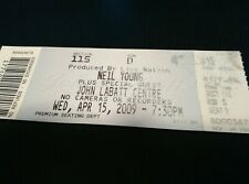 Neil Young Concert Ticket