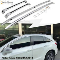 4PCS Fit for Acura RDX 2012-2018 Silver Aluminum Roof Rack Rails + Cross Bars