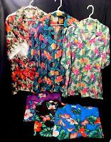 Vintage 1970s Hawaiian Shirt SIX 2XL Harriets & Aloha Made In Hawaii LOOK & READ