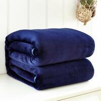 Super Soft Blanket Warm Solid Micro Plush Fleece Throw Rug Sofa Bed Home Office