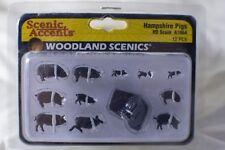 Hampshire Pigs 12 pcs Woodland Scenics A1864 HO Scale Animales