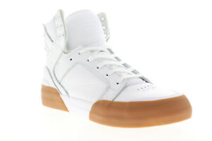 Supra Skytop 77 06578-151-M Mens White Leather High Top Skate Sneakers Shoes