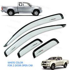 2005 - 14 Weather Guards Visor Windshield White On Toyota Hilux Vigo Cab Pickup