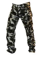 Pantalone Mimetico Cotone 100% Uomo 6 Tasche Militare Pesca Caccia Airsoft Sport