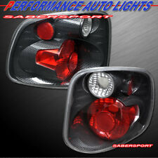 Set of Pair Carbon Look Taillights for 2001-2003 Ford F-150 SuperCrew Flareside