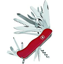 "Victorinox WorkChamp XL Knife 30 functions Red Dark Handle Slide Lock 4⅓"" Closed"