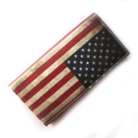 Retro Style USA American Flag Women's Long Clutch wallet Vintage Purse Bags US