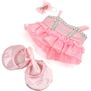 8-10 inch Pink Ballerina Ballet Shoes Outfit - teddy bear stuffed animal clothes