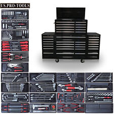 "US PRO Tool Chest Box Snap Up 2 side cabinet 75"" FINANCE AVAILABLE + TOOLS"