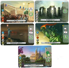 7 Wonders Duel PROMO – Sagrada Familia, Stonehenge, Messe, Statue of Liberty (2)
