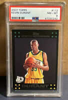 2007 Topps Kevin Durant #112 Rookie Card PSA 8 Black Border RC Nets Sonics 🔥