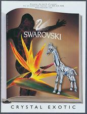 Swarovski Crystal Exotic Giraffe Vintage Magazine Ad 1999
