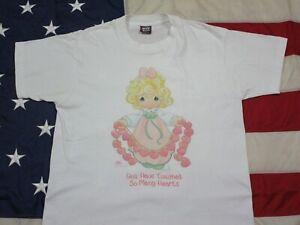 Vintage 1995 PRECIOUS MOMENTS Graphic T-Shirt (L) USA Single Stitch Hearts