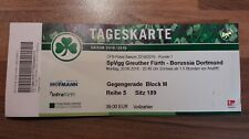 Ticket DFB Pokal Saison 2018/19 SpVgg Greuther Fürth vs. Borussia Dortmund BVB
