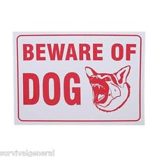 "9"" x12"" Beware of Dog Guard Warning Sign Gift Fence Post Plastic Land Yard NEW"