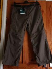 Women's Classic Kiwi Zip Off Leg Trousers Size 14 Short Lychen Green BNWT