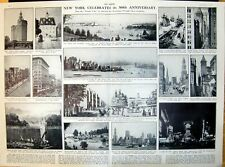 Old Print New York 300Th Anniversary Fifth Avenue Broadway Town Hall 1926
