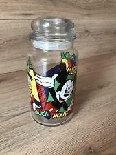 Mickey Mouse, Minnie Mouse, Donald Duck Vintage Glass Jar Storage