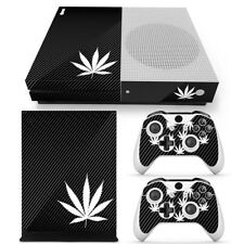 XBOX ONE S CONSOLE STICKER Carbon CANNABIS RASTA SKINS Decal & 2 PAD Cover new