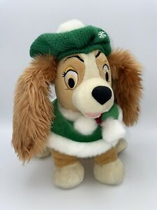 """Exclusive Disney Store Christmas Holiday Lady and The Tramp Plush 11""""H x 13""""L"""