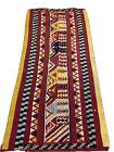 "Antique Handmade Ethnic Native Tribal Oriental Geometric Carpet Rug 44""x83"