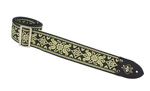 ... MAX CAVALERA MDLS059 OLD SCHOOL RINGED LEATHER GUITAR STRAP BUCKLE UP ...