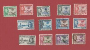 Gambia George VI  assorted used