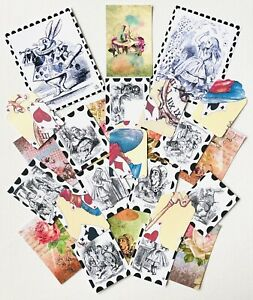 Alice In Wonderland Paper Kit For Junk Journals Scrapbook Pages Cards & Crafting