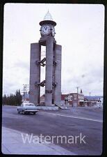 1970s Kodachrome Photo slide  Australia #36 Tasmania  Memorial  clock tower  car