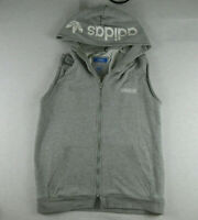 Adidas Originals Vest (not jacket) Men's Large L Track Top Tracksuit Zip Grey