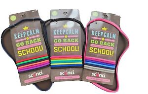 24 Scunci Hair Ties and Headband Keep Calm & Go Back to School 3x 8 Pcs