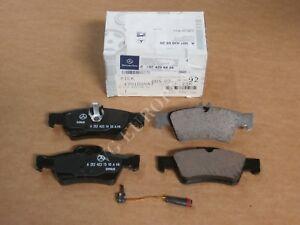 NEW Mercedes-Benz W212 E W218 CLS Class GENUINE Rear Brake Pad Set + SENSOR