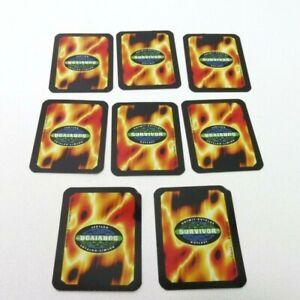 2000 Survivor Board Game Replacement Parts Pieces - 8 Erasable Voting Cards