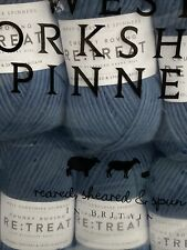 WEST YORKSHIRE SPINNERS RE-TREAT CHUNKY ROVING 100% PURE WOOL 500 GRAMS 5 Balls