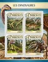 Djibouti - 2017 Dinosaurs on Stamps - 4 Stamp Sheet - DJB17109a