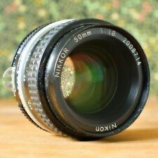 NIKON NIKKOR 50mm f/1.8 VINTAGE MANUAL FOCUS CAMERA LENS - JAPAN