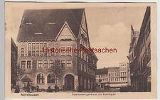 (106414) AK Nordhausen, Sparkassengebäude mit Kornmarkt 1919