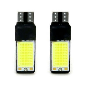 2Pcs T10 W5W 194 168 Wedge Light Bulb 6W 12V LED 6000K COB Canbus Reading Lamp