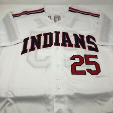 Jim Thome Cleveland Indians Replica Throwback Stitched Jersey Mens Size Large