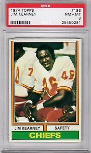 1974 Topps #193 Jim Kearney  PSA 8 Chiefs