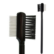 Steel Eyebrow Eyelash Dual-Comb Extension Brush Metal Comb Makeup Tool 1pc TOP